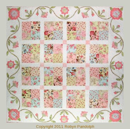 Flirtatious quilt pattern by Robyn Pandolph I love romantic fabrics.