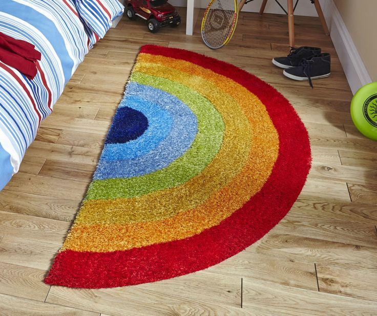 Rainbow Children s Rug 75cm x 135cm (2'4 x 4'4 ft)