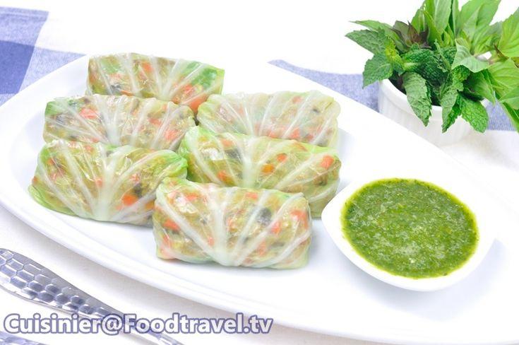 FoodTravel.tv yemek tarifleri - Domuz eti ve sebze Wade bahçe lahana Lahana Sarma.
