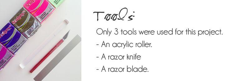 rolo acrílico e lâmina de barbear