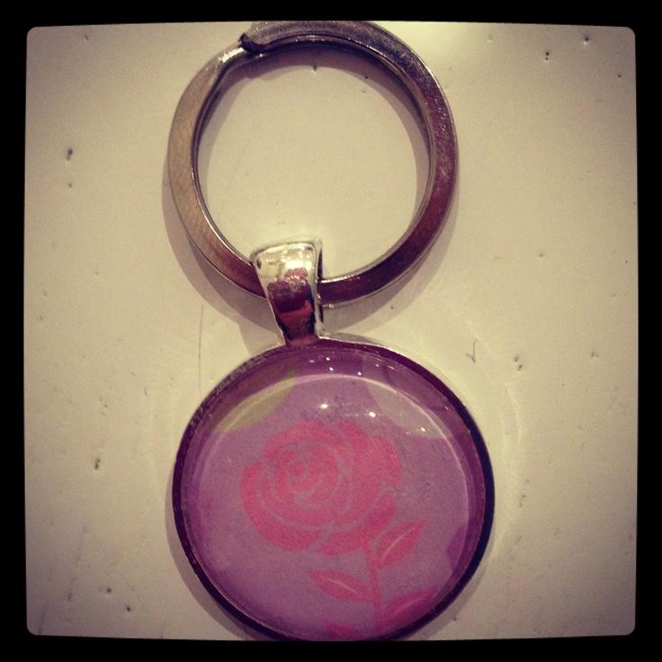 Glass bead key ring
