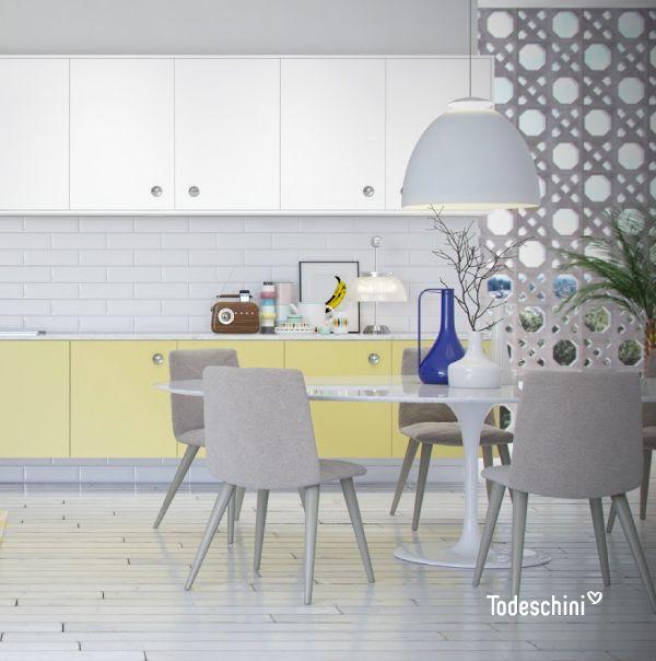 ¿Te gustaría una cocina retro? Nuestra colección SER está inspirada en la magia de las décadas de los 50, 60 y 70, con una mezcla de tonos y materiales que generan un gran impacto visual en tu decoración. #cocinas #kithchen #cocinasintegrales #cocinasamplias #cocinasmodernas #cocinasretro #decoraciondecocinas #cocinasprácticas #cocinasbonitas #cocinasamarillas #cocinasvintage  #Diseñodeinteriores  #Decoración  #Todeschini  #ambientes  #mueblesamedida #renovation #interiordesign…