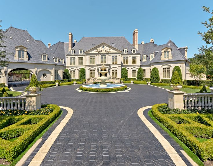 Luxurious French Formal Residence Carved Central Tiered Fountain
