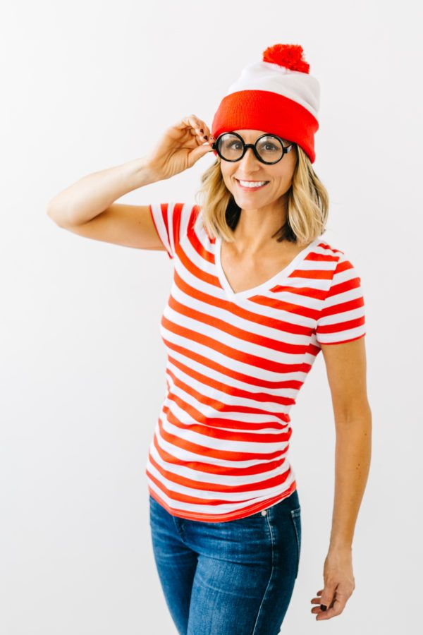 Where's Waldo! This is such a cute and easy Halloween costume especially when the pieces can be found at @saversvvillage