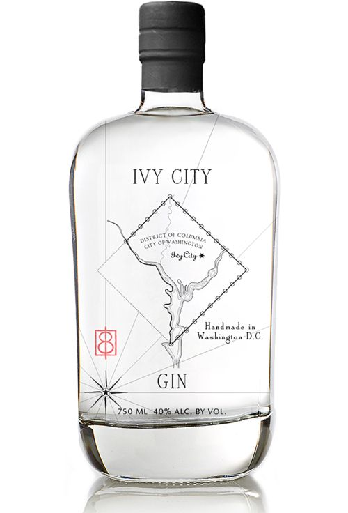 Clean, minimalist design for Ivy City Gin | packaging branding bottle