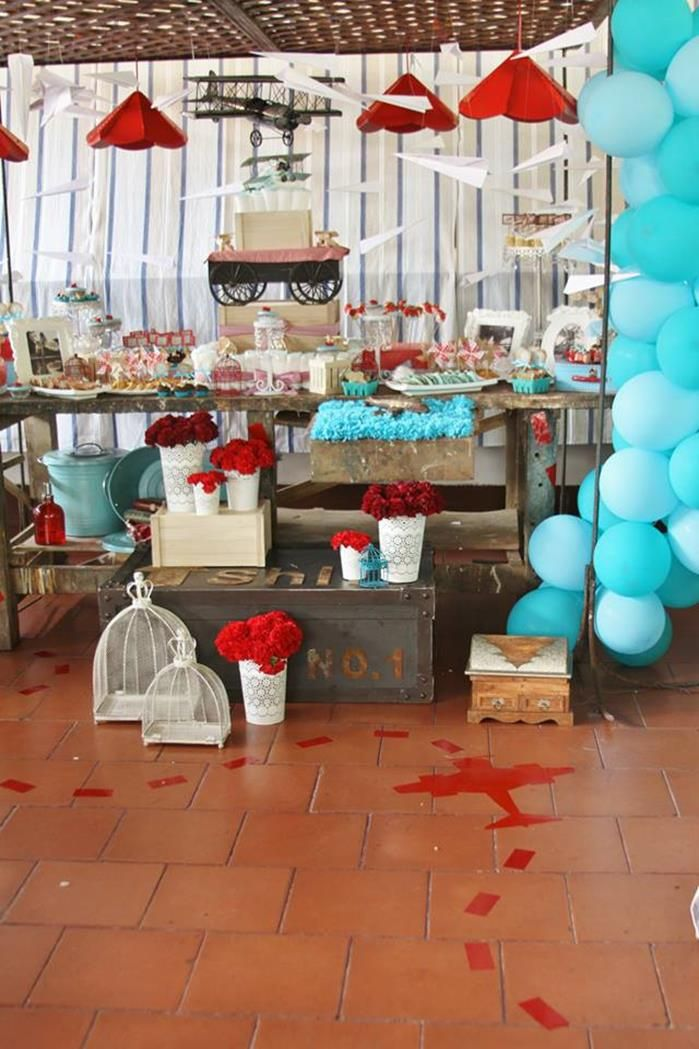 Vintage Airplane Baby Shower Ideas Supplies Idea
