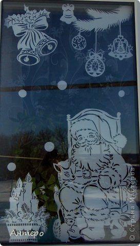 Поделка изделие Новый год Вырезание новогодние окошки 2013 Бумага фото 5