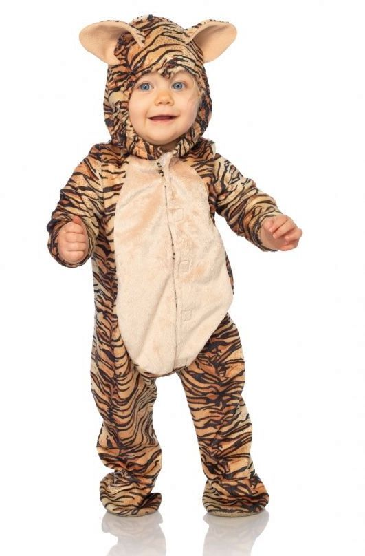 anne geddes baby tiger costume includes hooded tiger bodysuit with snap closures for easy diaper changes - Diaper Costume Halloween