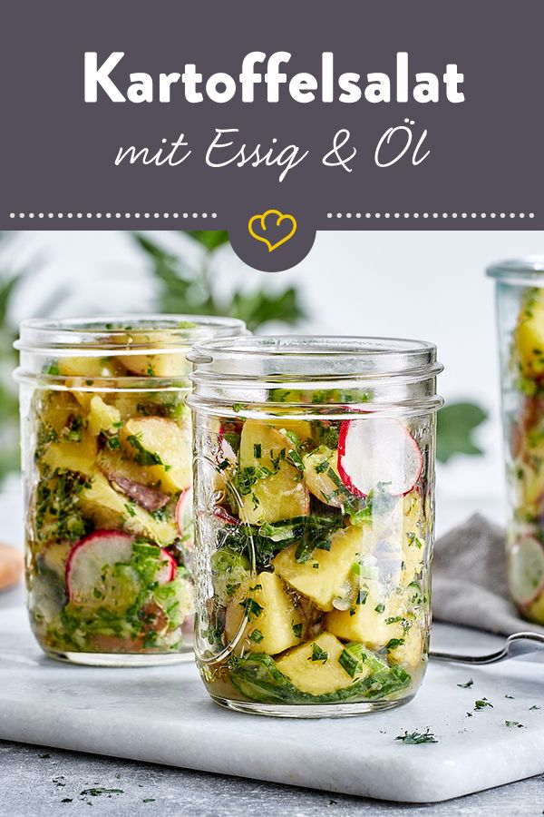 Leckerer Kartoffelsalat mit Essig-Öl-Vinaigrette …