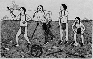 Miwok Hoop and Pole Game NATIVE GAMES