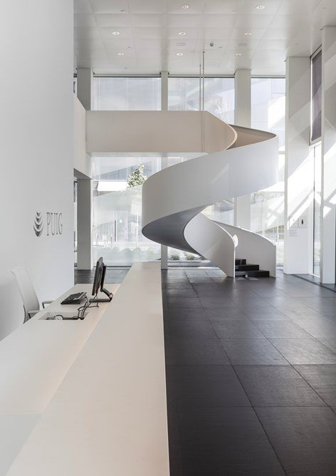 Puig #Tower, #Barcelona   GCA Architects See the full project on Archilovers #architecture #headquarters #staircase