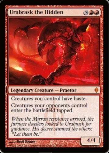 Urabrask the Hidden mtg Magic the Gathering New Phyrexia red mythic rare creature card