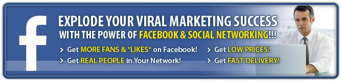 We can add thousands of active Facebook® fans to your Facebook® Page. Tap into the 500 million+ Facebook® users and increase your brand awareness! There's never been a better way to get your product in front of so many people.