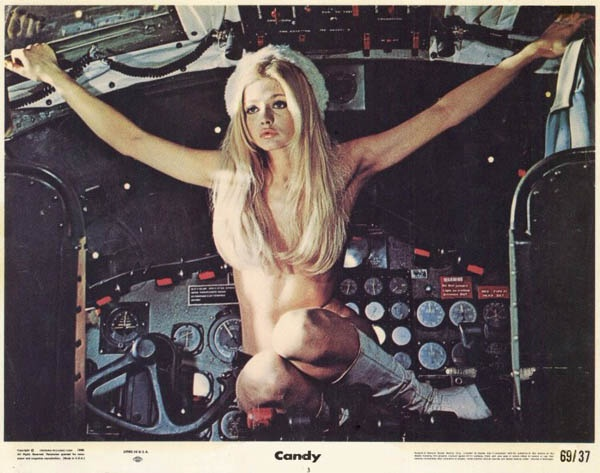 Ewa Aulin in Candy, from Christian Marquand (1968) @Ignacio Schiefelbein Serantes did you saw it?