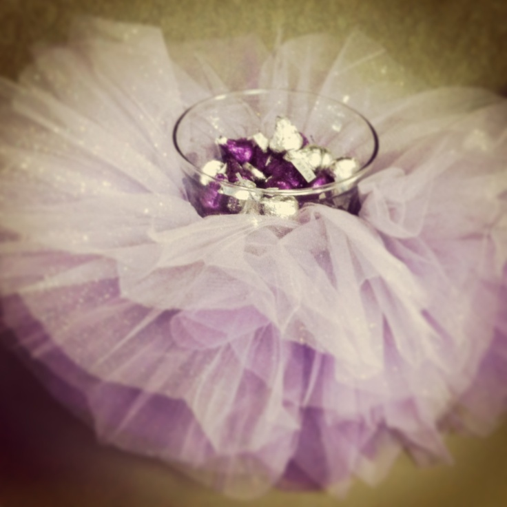 Tutu centerpiece for a baby shower