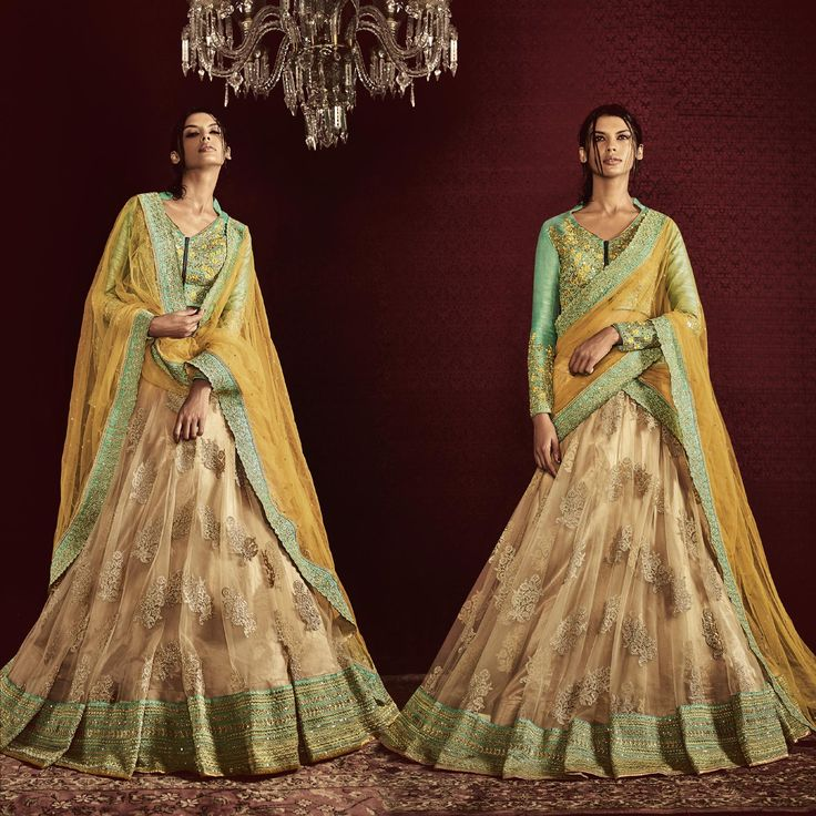 Beige Color with Heavy Embroidery Bridal Lehenga Saree in Net Fabric. Buy Now :- https://goo.gl/C6KE2Y #CashOnDelivery & #FreeShipping available in India.