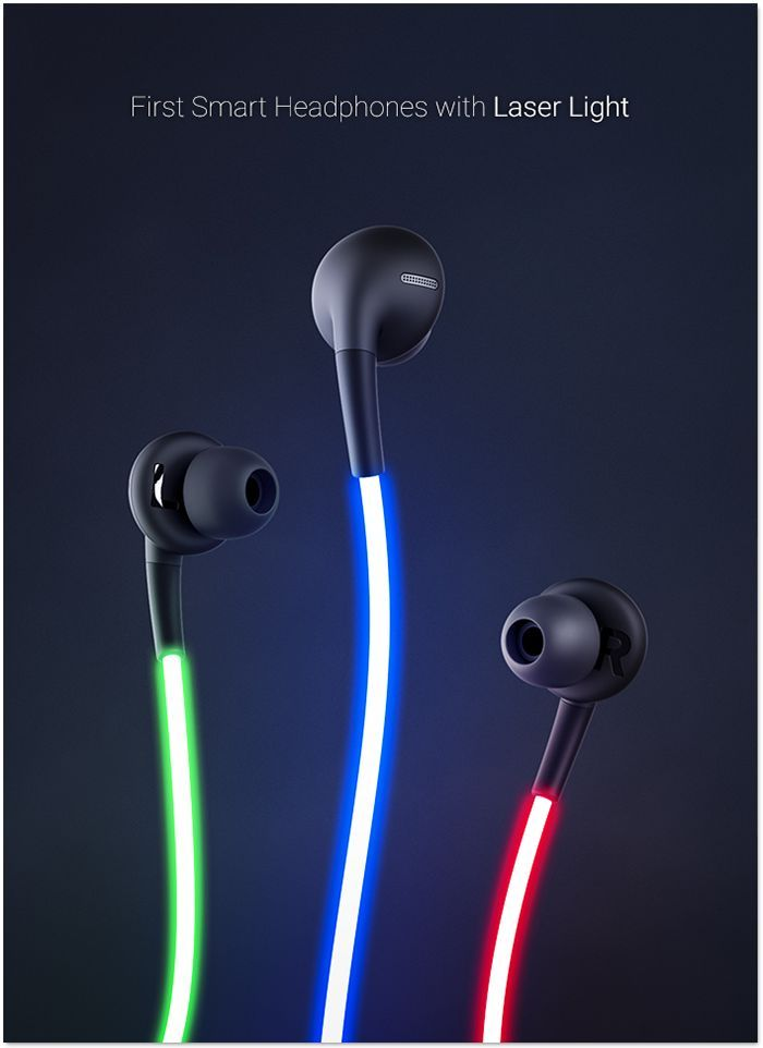 Glow: The first intelligent headphone with laser light from Glow, LLC – Kickstarter. Feel the beat. Glow combines state-of-the-art sound technology, laser light and a heart rate sensor for an unparalleled experience. #Product Design – Artur V. Blonsky