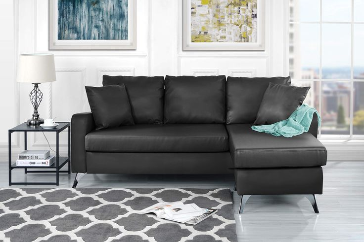 Divano Roma Furniture Bonded Leather Sectional Sofa Small Space Configu Sofas For Small Spaces Small Space Sectional Sofa Modern Bonded Leather Sectional Sofa