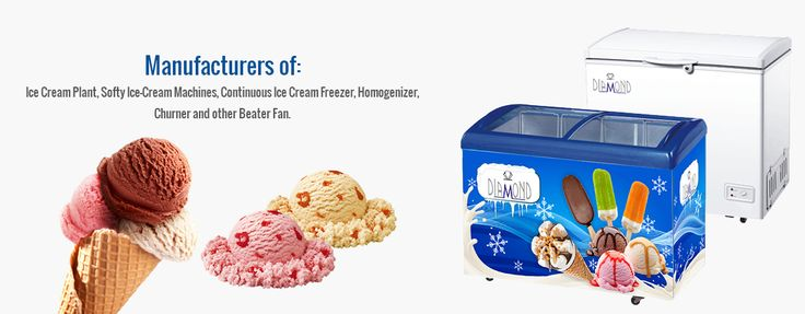 Diamond Engineering Works offers a range of softy ice cream machines, deep freezers, continuous ice cream freezer, flat glass freezers, churner, plate chiller, batch freezers, ice cream plant and many more.