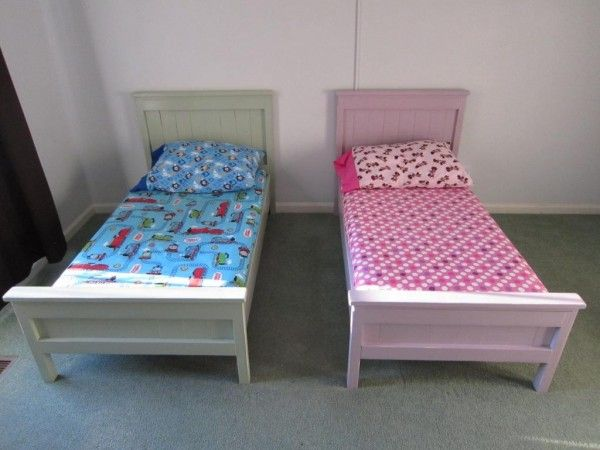 Farmhouse Toddler Beds | Do It Yourself Home Projects from Ana White