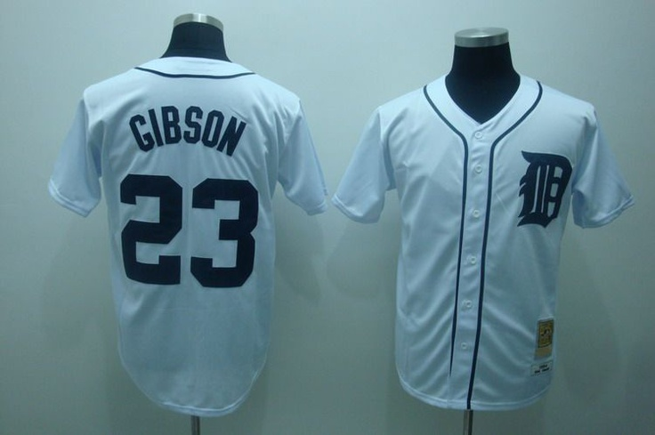 8928eb96d ... italy 22.00 mlb jerseys detroit tigers kirk gibson 23 white mlb jerseys  pinterest detroit tigers a7aac