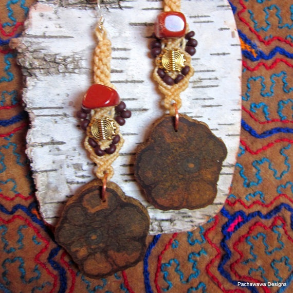 Sunburst Ayahuasca Medicine Earrings by pachawawa on Etsy, $35.00