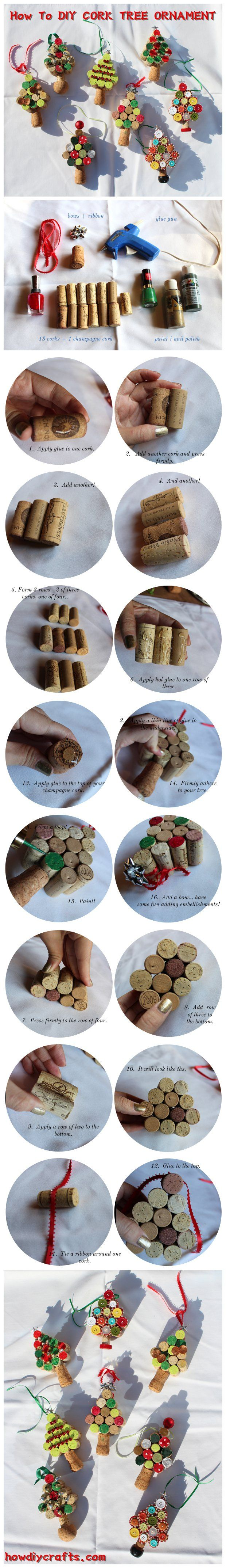 How To #DIY CORK TREE ORNAMENT