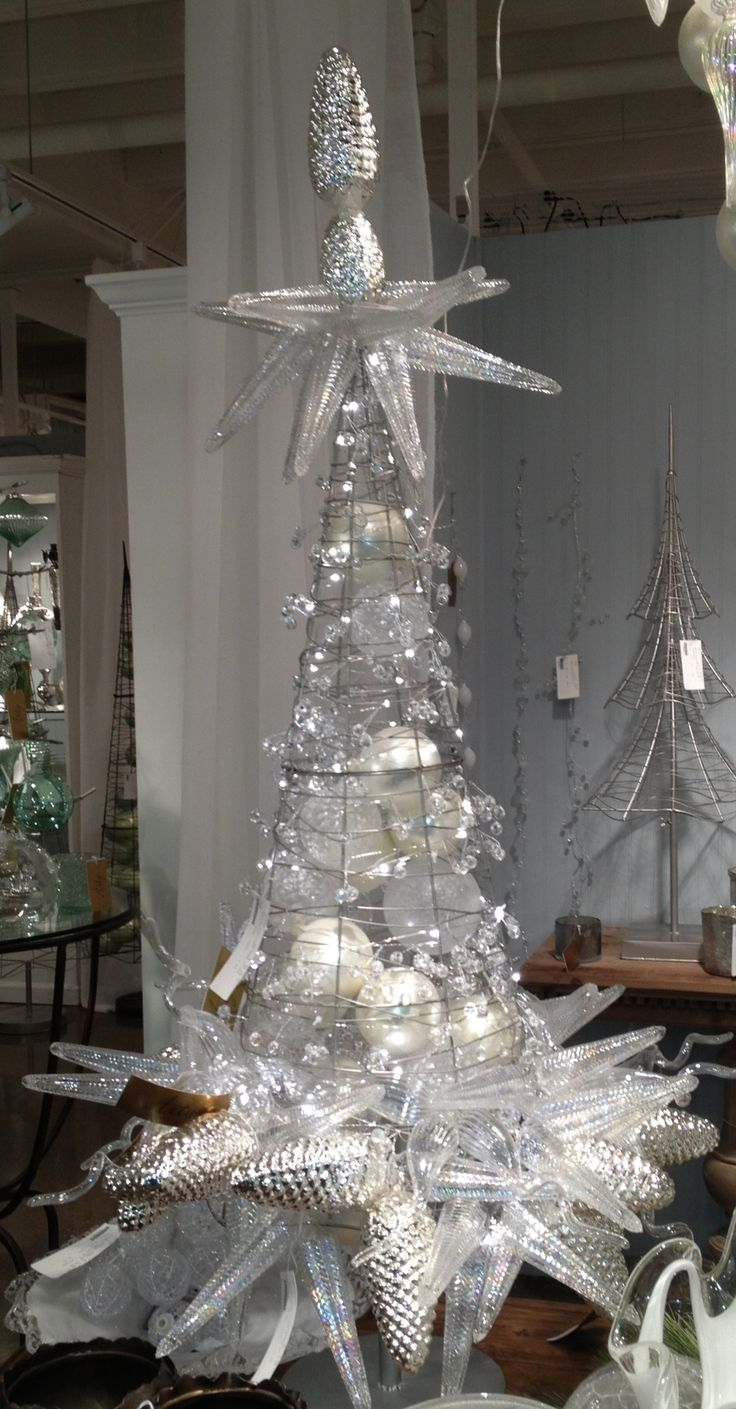glass ornament christmas tree this looks like one of those tomato cages add more wire. Black Bedroom Furniture Sets. Home Design Ideas