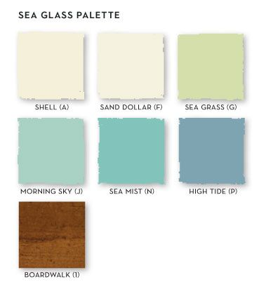 Master Make-over seaglass color palette from Stanley Coastal Living Cottage Collection