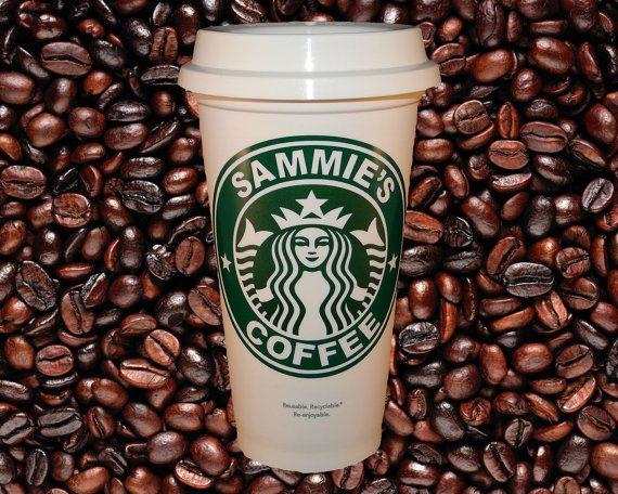 Starbucks Personalized Coffee Travel Mug - 16 ounce - Great for Corporate Meetings, Family Reunions, Group Gifts
