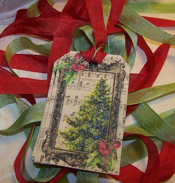 Handmade Vintage Christmas Tags