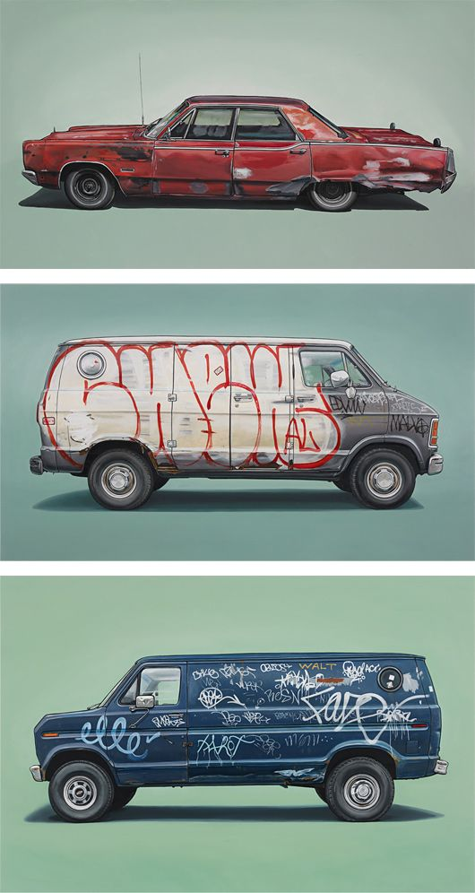 Vehicle Paintings by Kevin Cyr