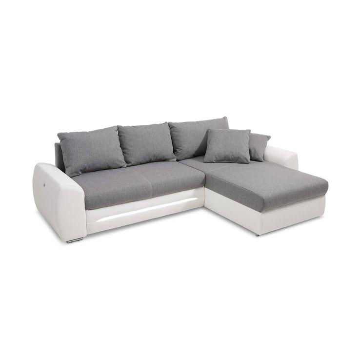 ecksofa luna grau wei liegefunktion. Black Bedroom Furniture Sets. Home Design Ideas
