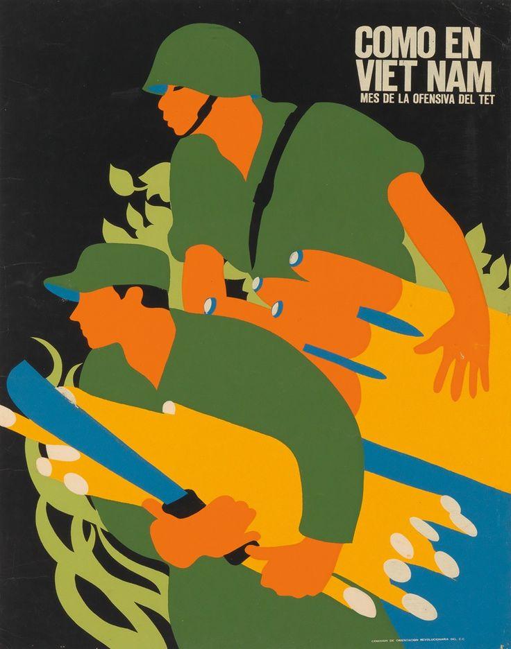 Cartel de la ofensiva del TET en Vietnam, se usó en Cuba y podría ser el emblema de La Sra Aguirre tras las elecciones.