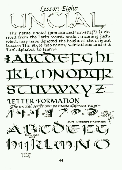 Calligraphy lesson online
