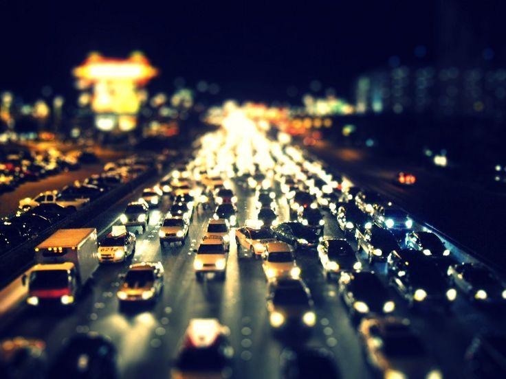 I love driving at night :)