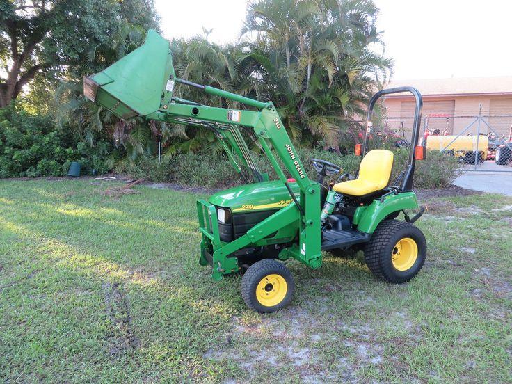 John Deere 2210 Tractor Loader Diesel 4x4 Hydrostatic 389 hrs Turf Tires  #JohnDeere