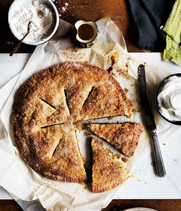 Walnut and date galette recipe | Alice Waters recipe - Gourmet Traveller