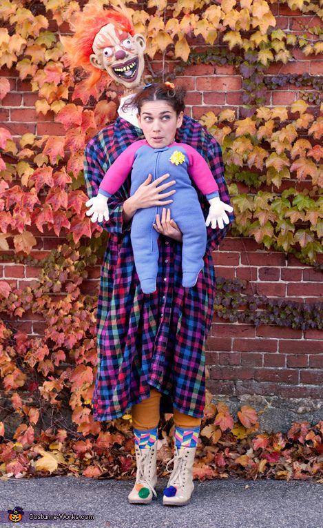 Clown & Baby Costume - Halloween Costume Contest via @costume_works