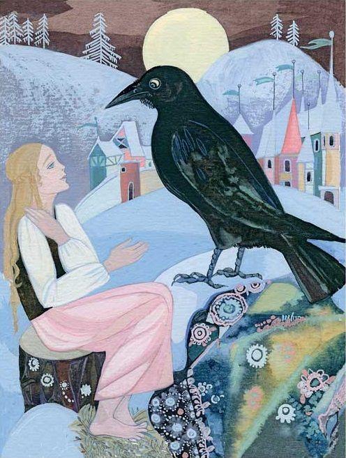 Картинки герда и ворон, марта руководителю женщине