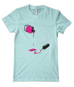 Nail Polish T-Shirt. (Click through for more clothing for nail lovers.)
