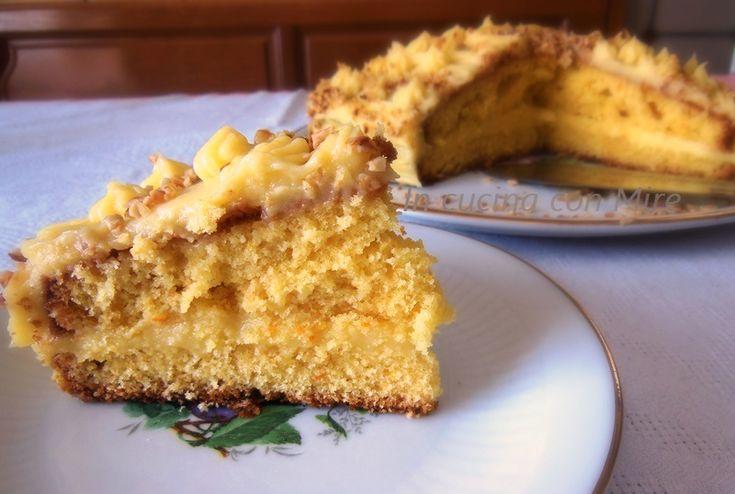 #gialloblogs #ricetta #foodporn #enyoy Torta farcita con crema di arancia | In cucina con Mire