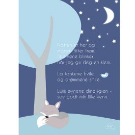 Plakat - God natt - Blå
