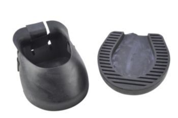 Barrier Hoof Boot Small by Basic. $15.29. Made to protects hoof while holding in medication and conditioning oils. Made of a rugged PVC with solid bottom. Nylon strap and buckle aid in making a secure fit. Perfect for use as an emergency shoe replacement. Covers hoof wall and entire bottom to protect against splits and nicks when unshod. Measurements should always be taken on a freshly trimmed hoof to ensure proper sizing. Sold individually. XS 4 1/4 wide 4 1/2 long (Ap...