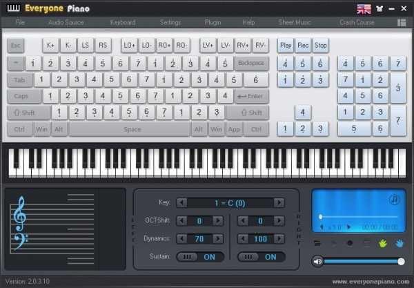 Everyone Piano v2.0.3.10 WiN FREE | 13.03.2017 | 5.6 MB Computer Keyboard Piano Simulation Software Everyone Piano is computer keyboard piano simulation