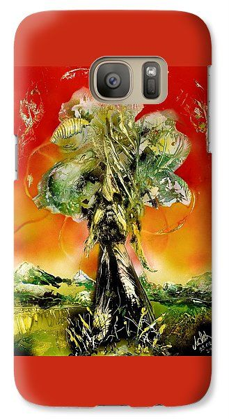The Sentinel Galaxy S7 Case Printed with Fine Art spray painting image The Sentinel by Nandor Molnar (When you visit the Shop, change the orientation, background color and image size as you wish)