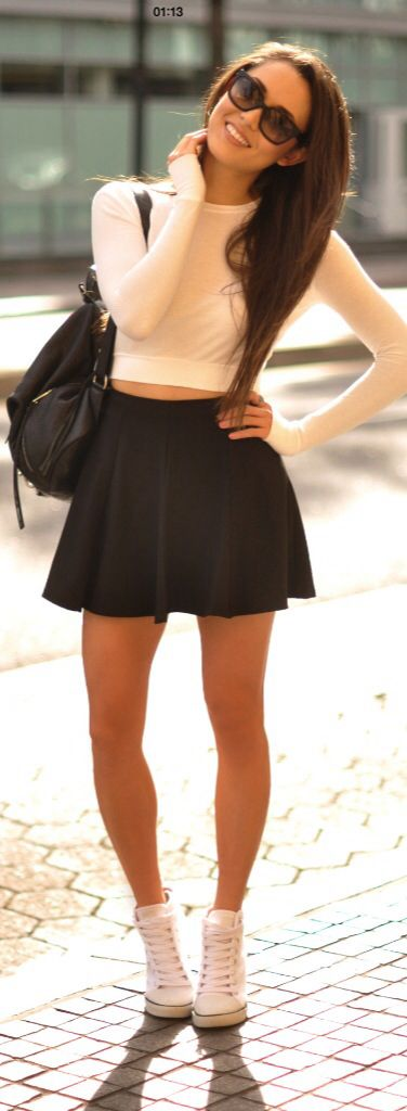 There are 20 tips to buy this t-shirt: hapa time skirt shoes sunglasses top  black white bag sweater black skirt shorts shirt white long sleeved top  clothes ...