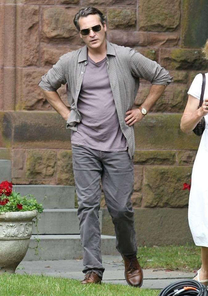 Хоакин Феникс на съемочной площадке нового и пока безымянного фильма Вуди Аллена. (#JoaquinPhoenix, #WoodyAllen)