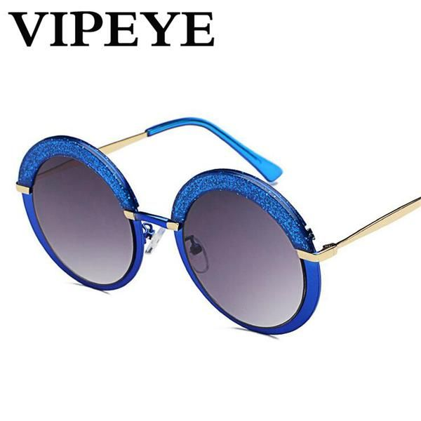 #FASHION #NEW New Personality Flash Round Sunglasses Women 2017 Colored Frame Trend Luxury Steampunk Sunglasses Ladies Oculos De Sol…