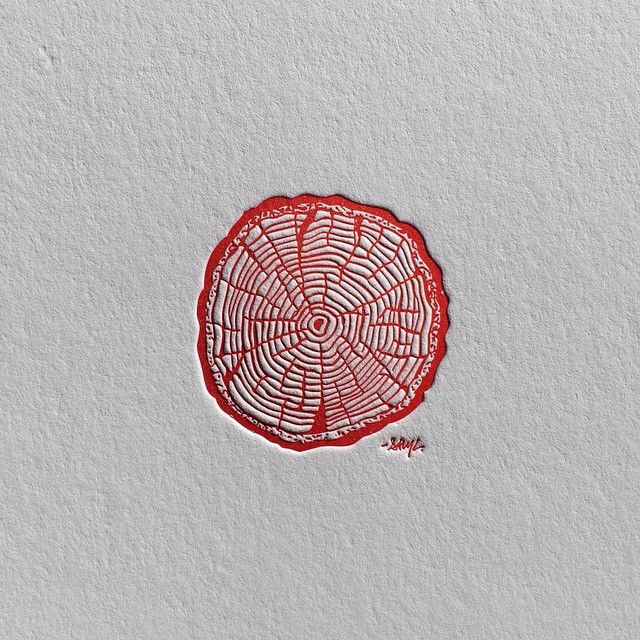 """""RINGS"" The second of three different letterpress prints now available in my store. Link in bio if interested. Thanks to everyone who has picked one up!…"""